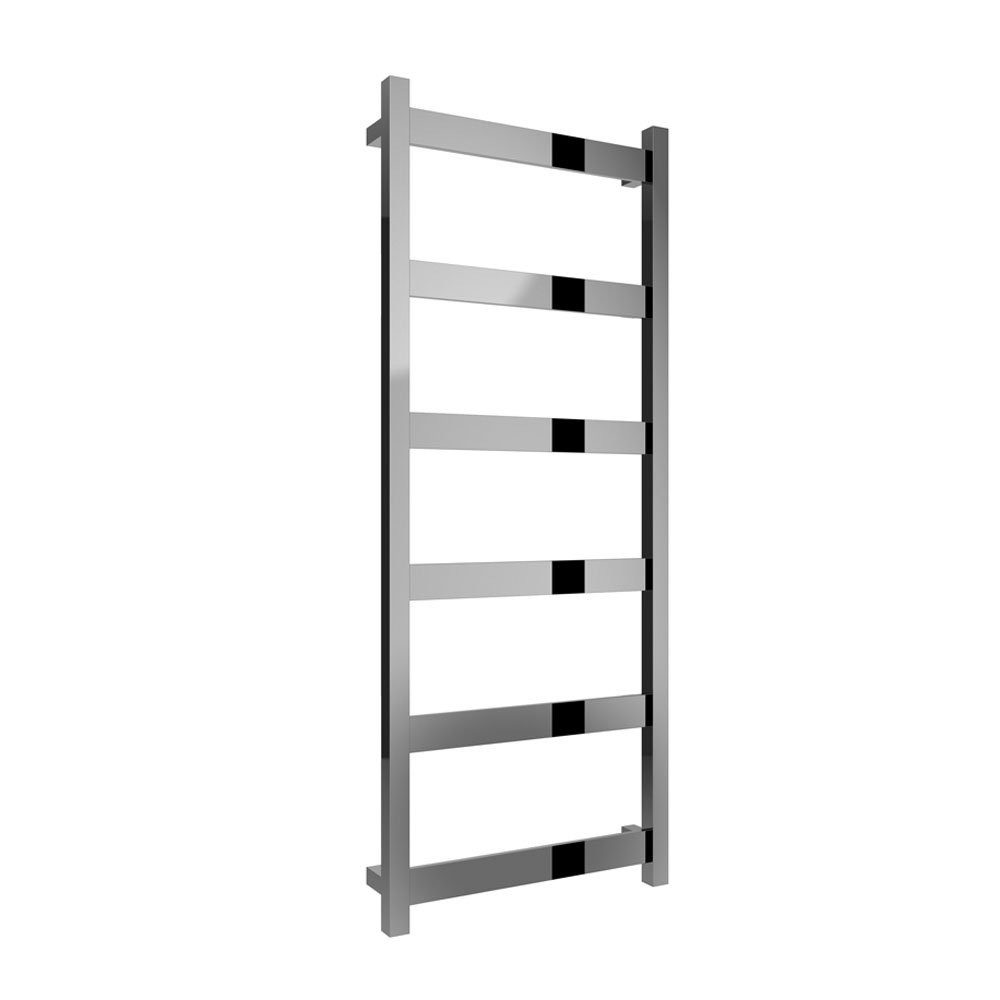 Reina Mina Square Tube Heated Towel Rail 1170mm H x 480mm W Polished Stainless Steel