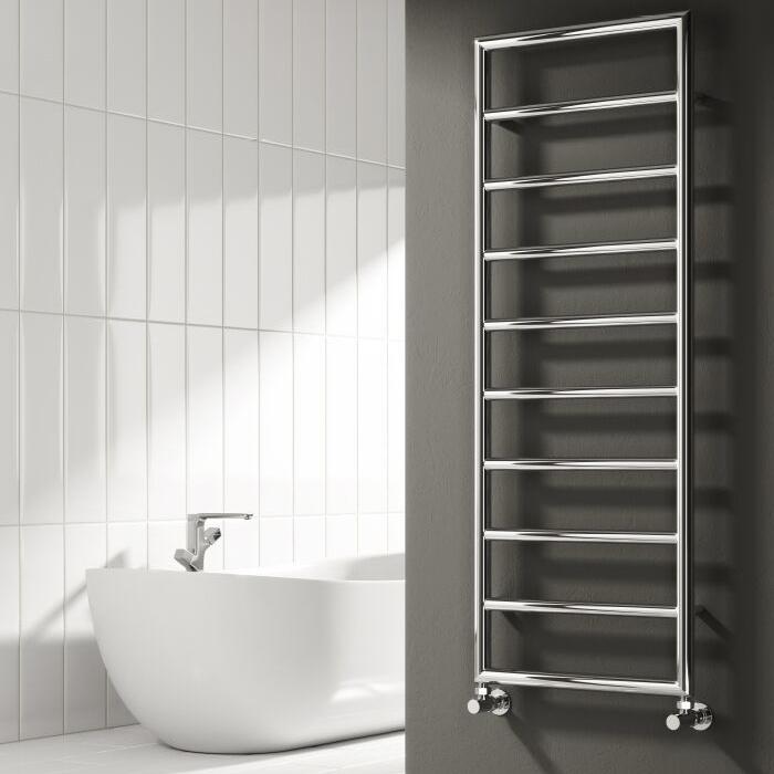 Reina Nardo Designer Heated Towel Rail 813mm H x 450mm W Chrome