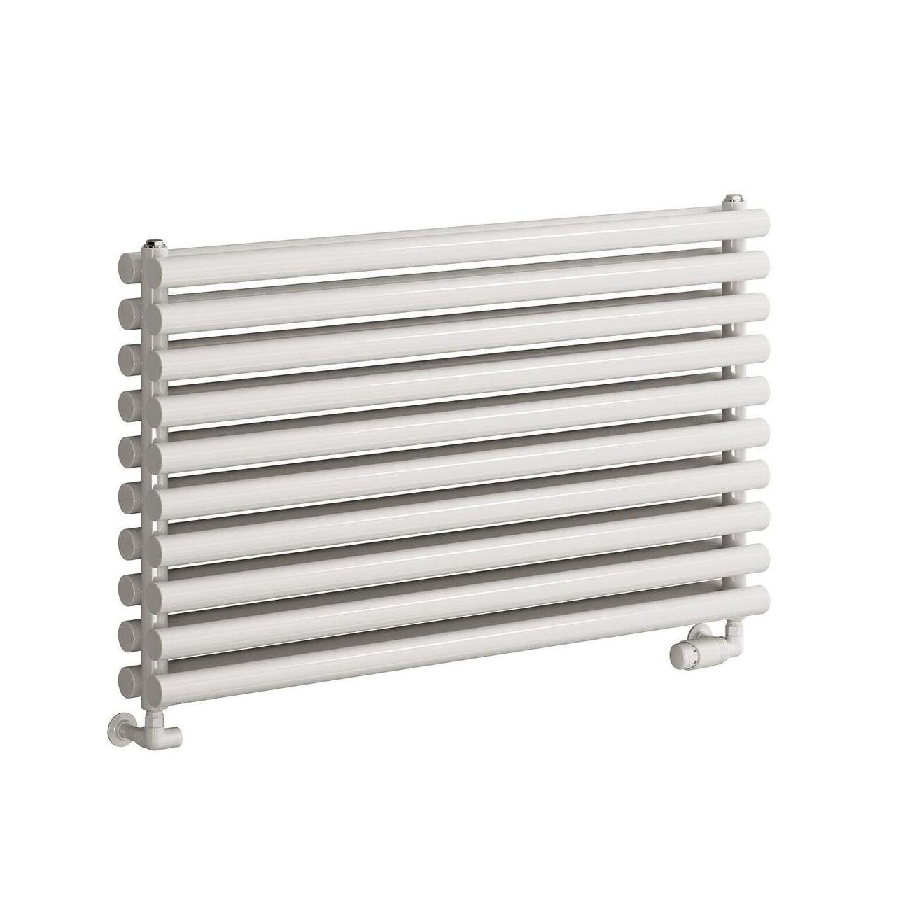 Reina Nevah Double Designer Horizontal Radiator 295mm H x 1200mm W RAL