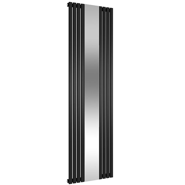 Reina Reflect Mirrored Designer Vertical Radiator 1800mm H x 445mm W Black/Mirror