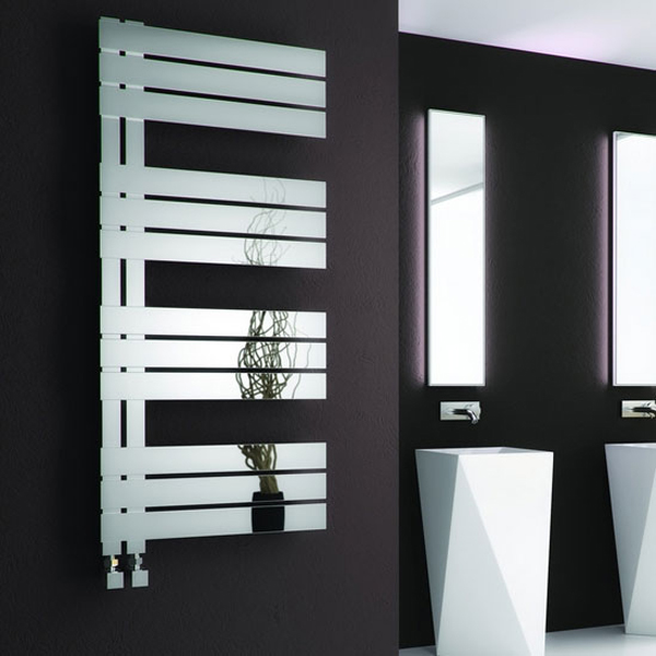 Reina Ricadi Designer Heated Towel Rail 1440mm H x 500mm W Polished Stainless Steel
