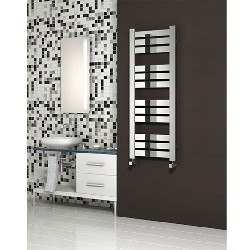 Reina Riva Flat Panel Heated Towel Rail 620mm H x 500mm W Chrome