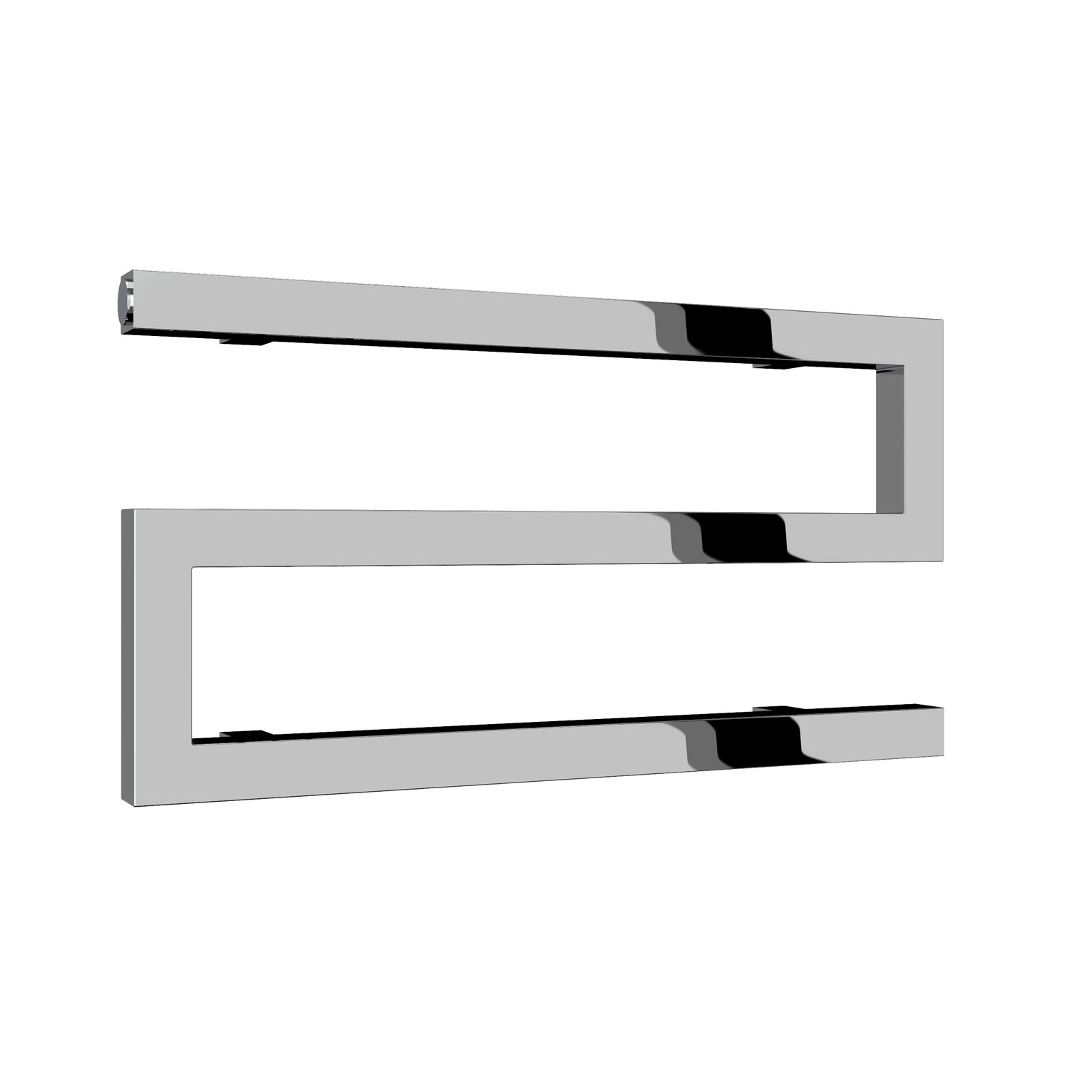 Reina Serpe Designer Heated Towel Rail 270mm H x 500mm W Chrome-0