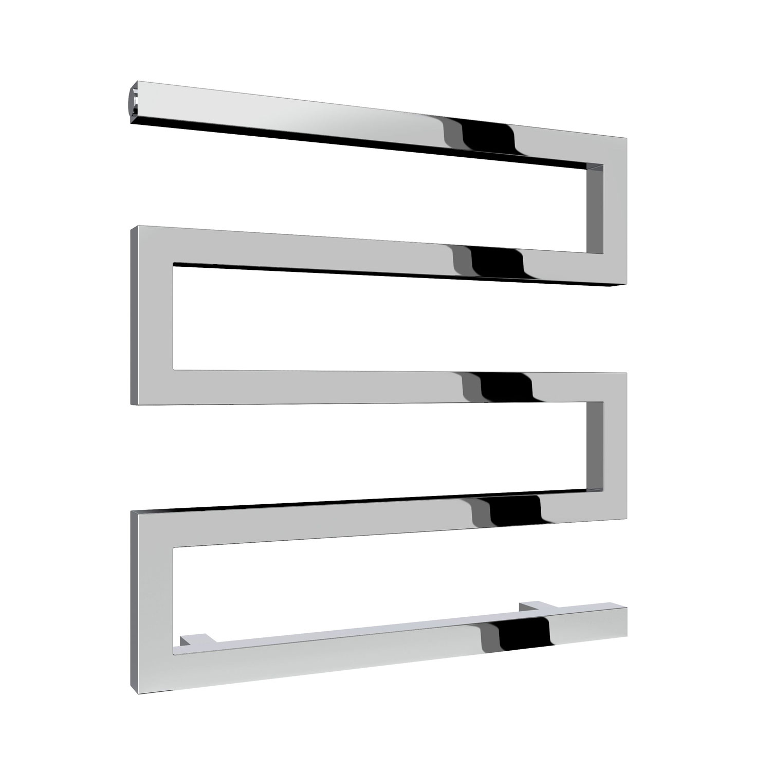Reina Serpe Designer Heated Towel Rail 510mm H x 500mm W Chrome