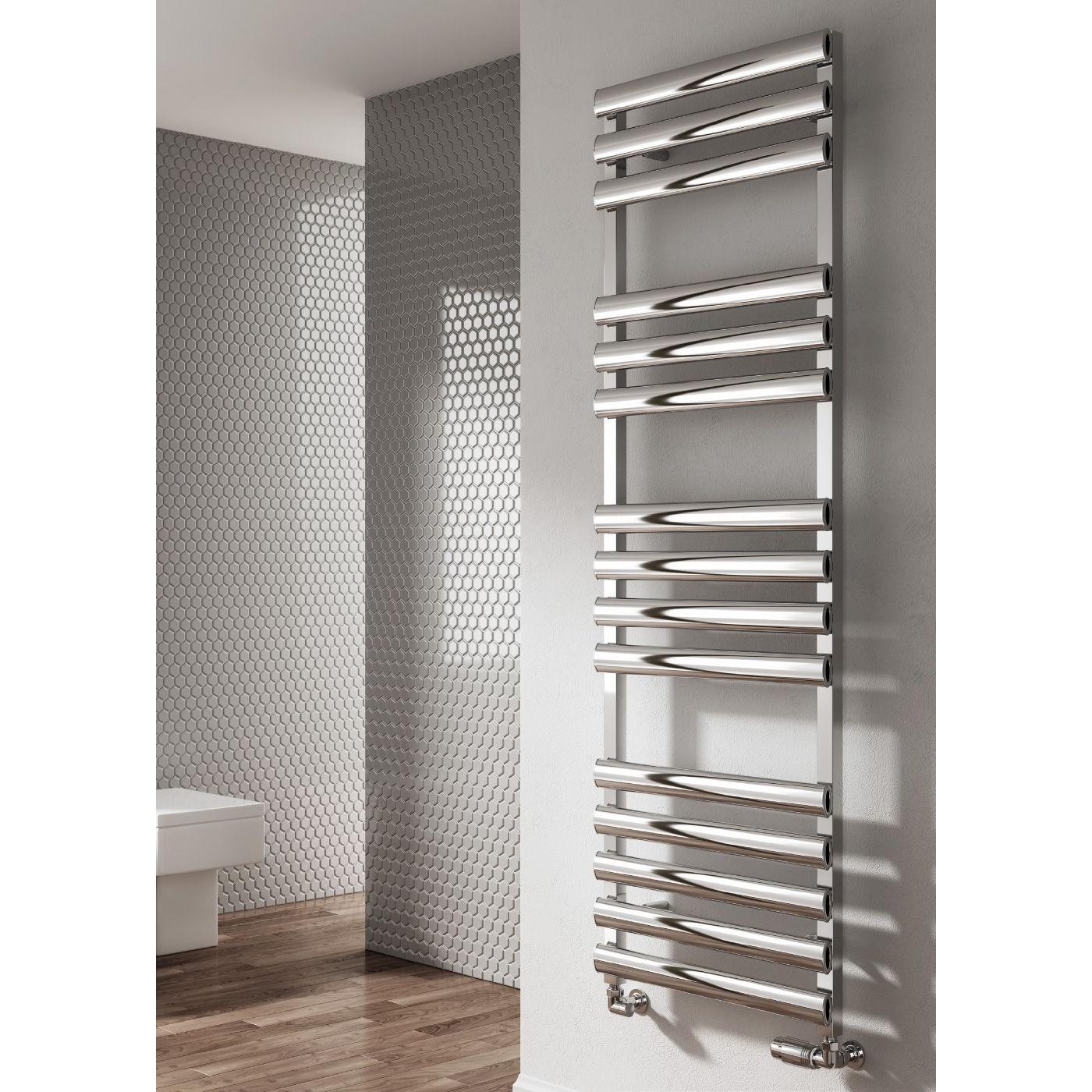 Reina Veroli Designer Heated Towel Rail 750mm H x 480mm W Polished
