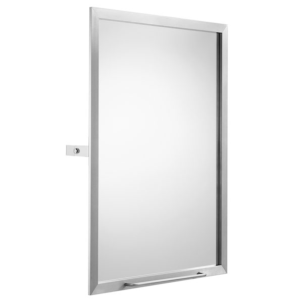 Roca Access Tilting Bathroom Mirror 600mm W - Stainless Steel