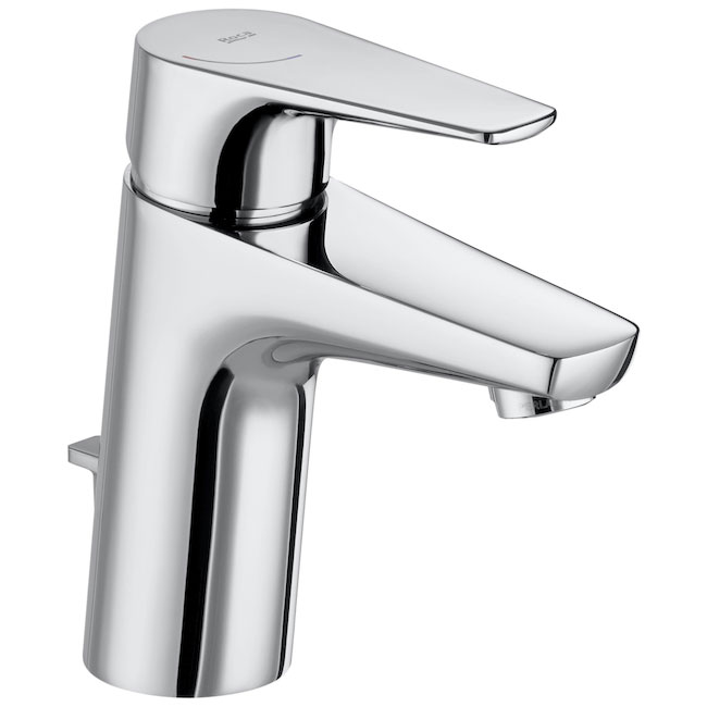 Roca Atlas Standard Height Basin Mixer Tap with Pop-up Waste - Chrome