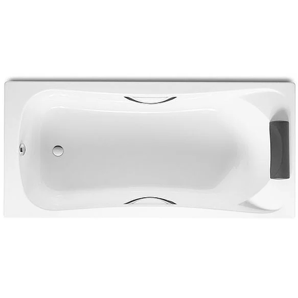 Roca Becool Single Ended Rectangular Bath with Grips and Headrest 1700mm x 700mm - 0 Tap hole