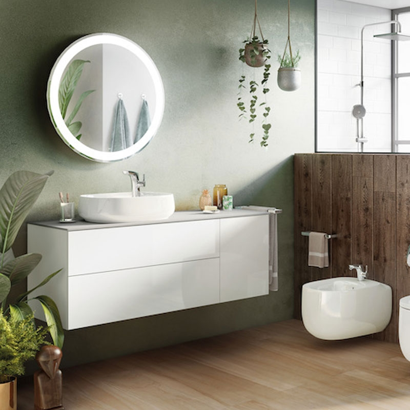 Roca Beyond Sit On Countertop Basin 450mm Wide - 1 Tap Hole