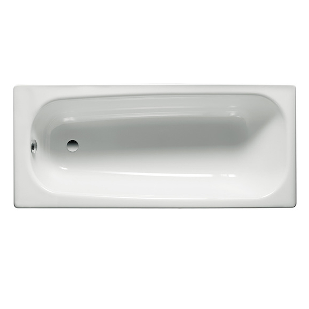 Roca Contesa Single Ended Bath with Leg Set 1700mm x 700mm - 0 Tap Hole