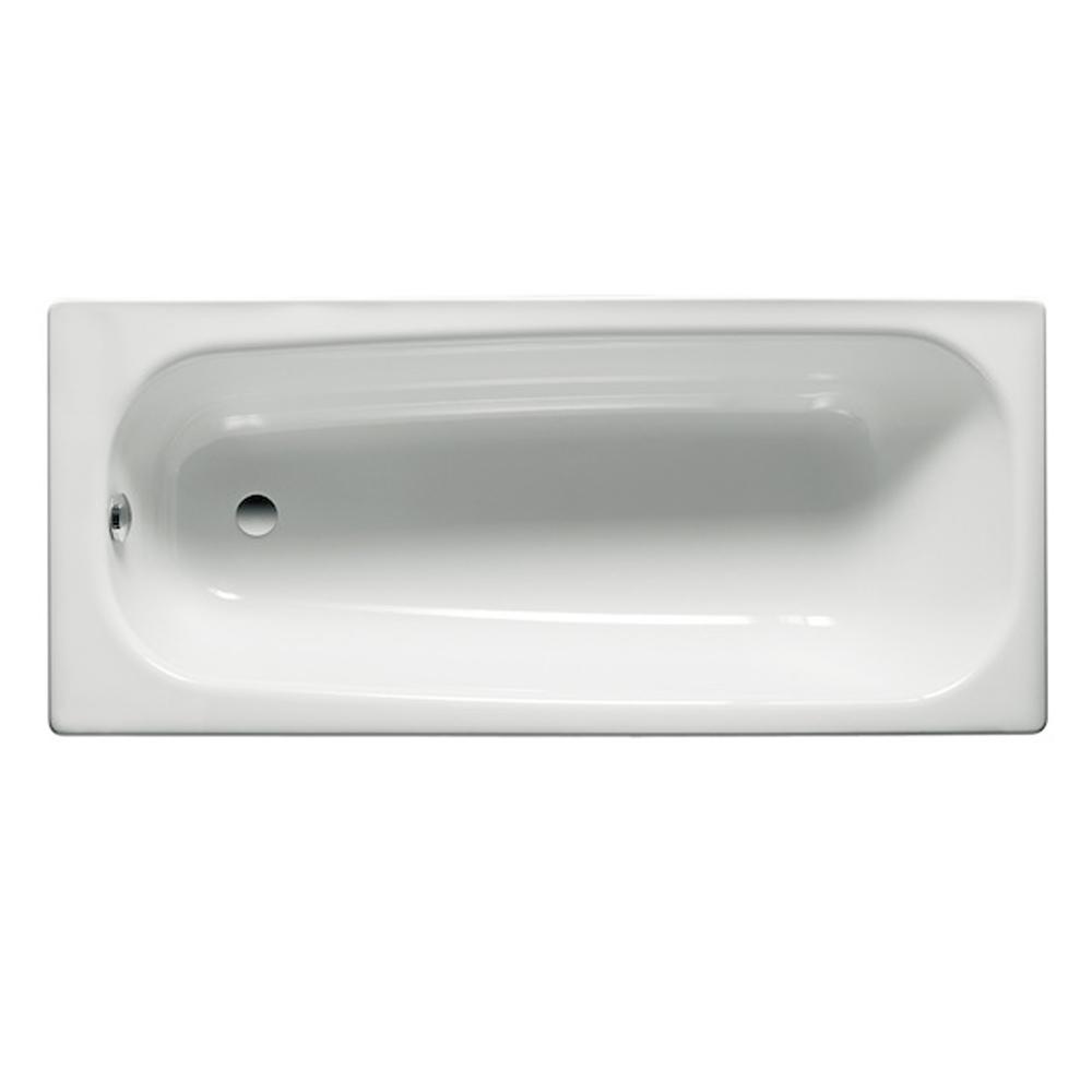 Roca Contesa Single Ended Bath with Leg Set 1700mm x 700mm - 0 Tap Hole-0