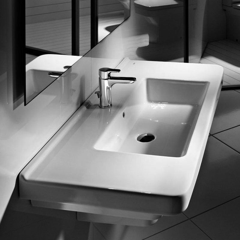 Roca Dama-N Wall Hung Basin, 850mm Wide, 1 Tap Hole-0