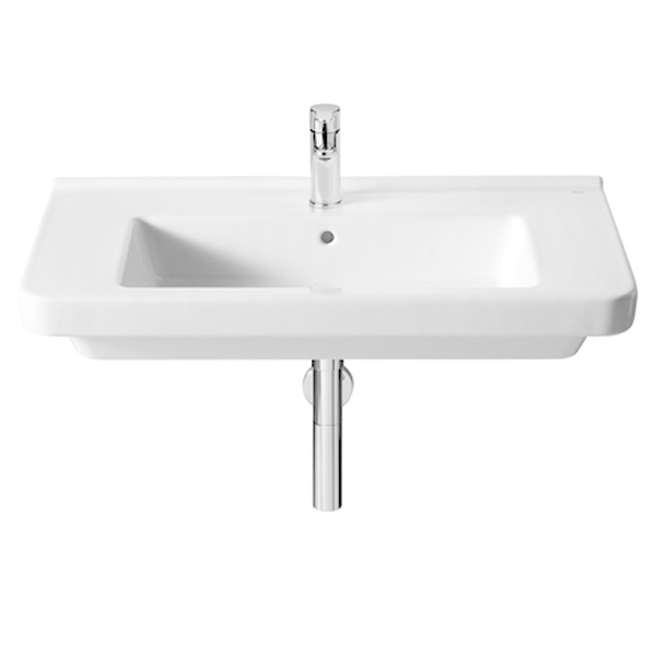 Roca Dama-N Basin and Full Pedestal, 850mm Wide, 1 Tap Hole-0