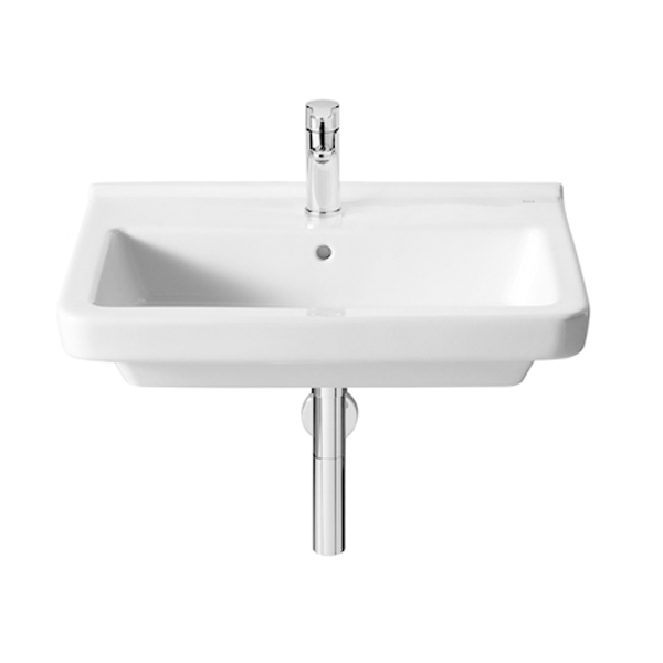 Roca Dama-N Basin and Full Pedestal, 650mm Wide, 1 Tap Hole-0