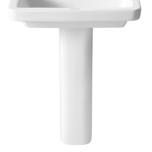 Roca Dama-N Basin and Full Pedestal, 650mm Wide, 1 Tap Hole-1