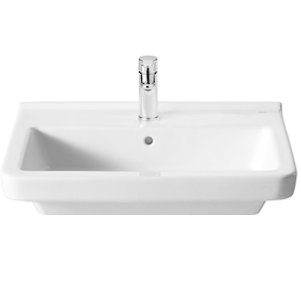 Roca Dama-N Basin and Semi Pedestal, 650mm Wide, 1 Tap Hole-0
