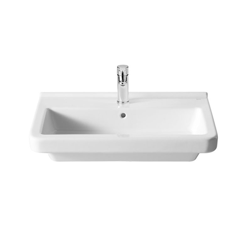Roca Dama-N Basin and Semi Pedestal, 600mm Wide, 1 Tap Hole