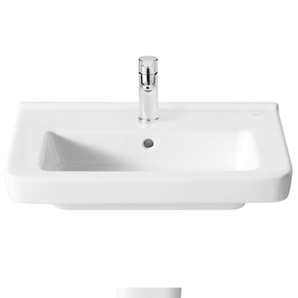 Roca Dama-N Compact Basin and Semi Pedestal, 600mm Wide, 1 Tap Hole-0