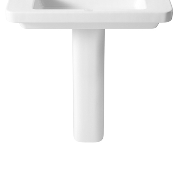 Roca Dama-N Compact Basin and Semi Pedestal, 600mm Wide, 1 Tap Hole-1