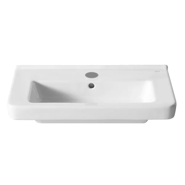 Roca Dama-N Compact Wall Hung Basin, 600mm Wide, 1 Tap Hole