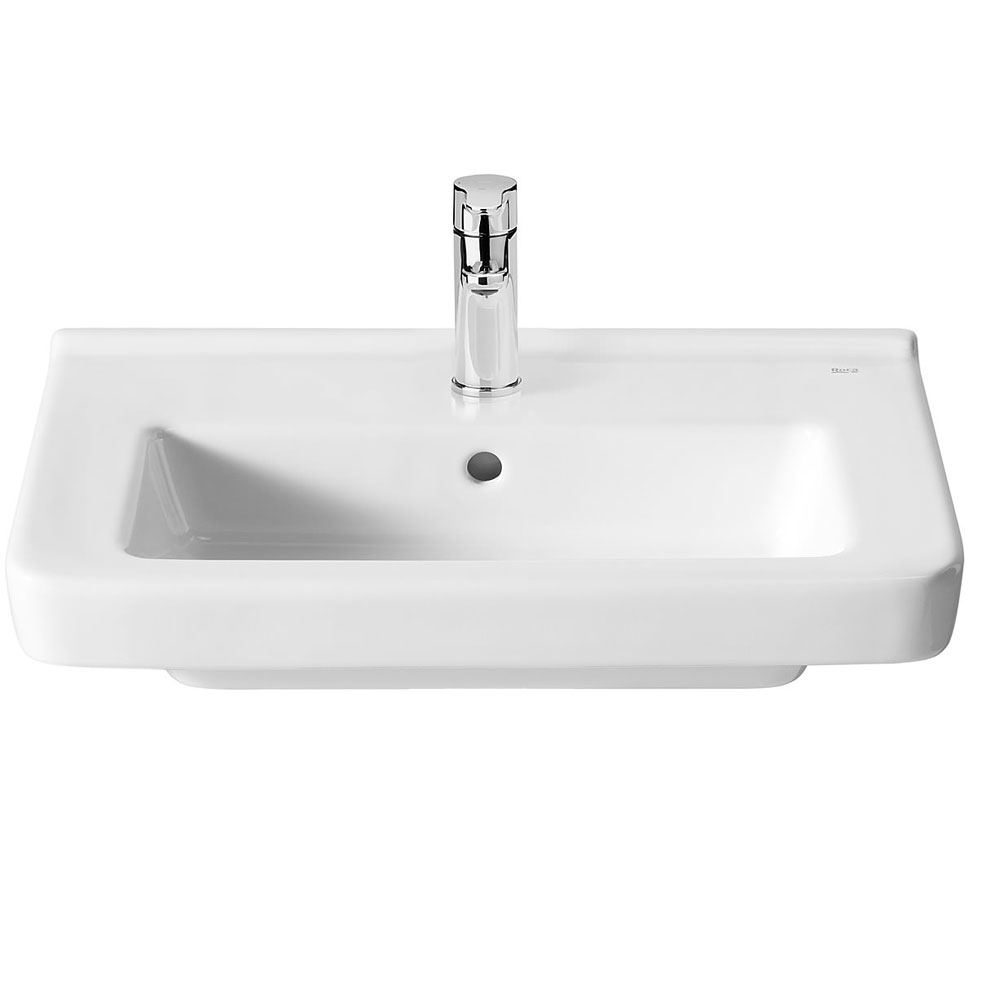 Roca Dama-N Compact Basin and Semi Pedestal, 550mm Wide, 1 Tap Hole-0