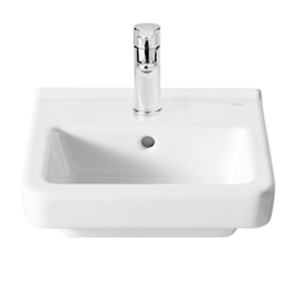 Roca Dama-N Compact Basin and Semi Pedestal, 400mm Wide, 1 Tap Hole-0