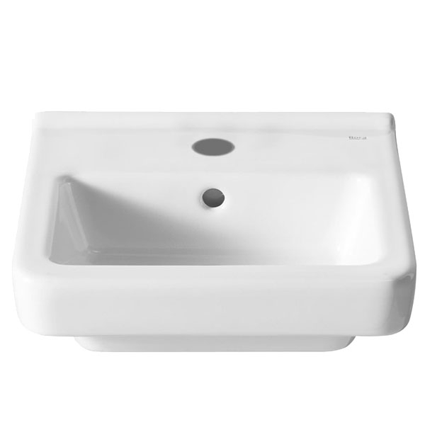 Roca Dama-N Compact Wall Hung Basin, 400mm Wide, 1 Tap Hole
