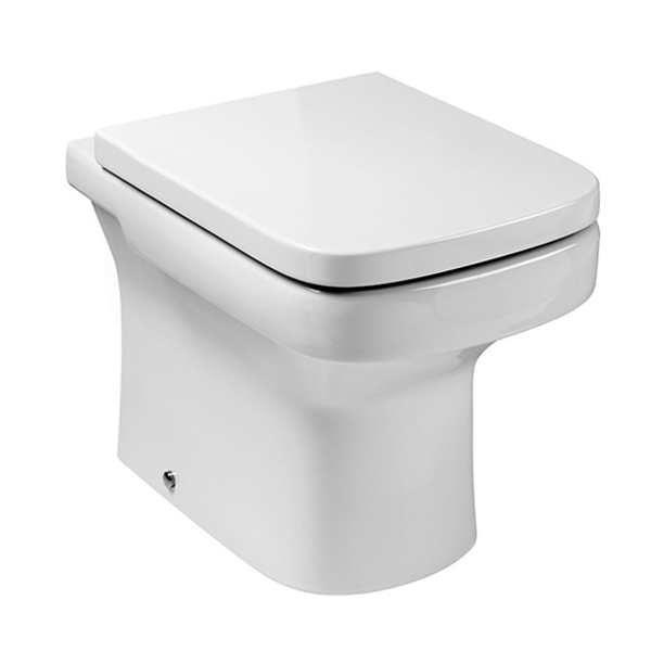 Roca Dama-N Close Coupled Toilet with Push Button Cistern, Soft Close Seat-2