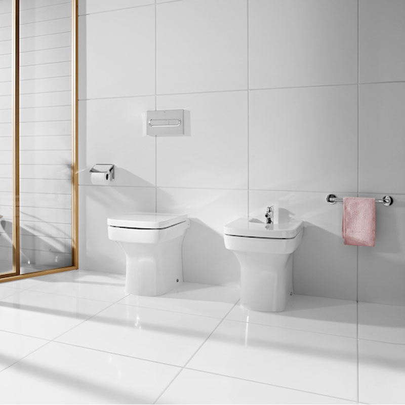 Roca Dama-N Back to Wall Toilet, 520mm Projection, Standard Seat-2