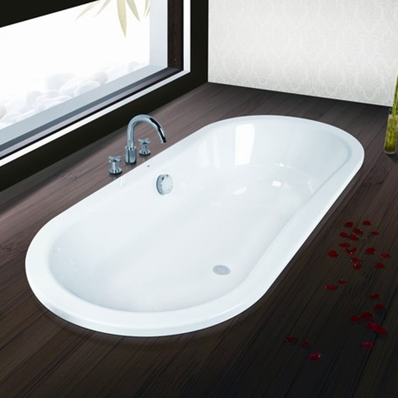 Roca Duo Oval Plus Double Ended Freestanding Steel Bath 1800mm x 800mm 0 Tap Hole-0