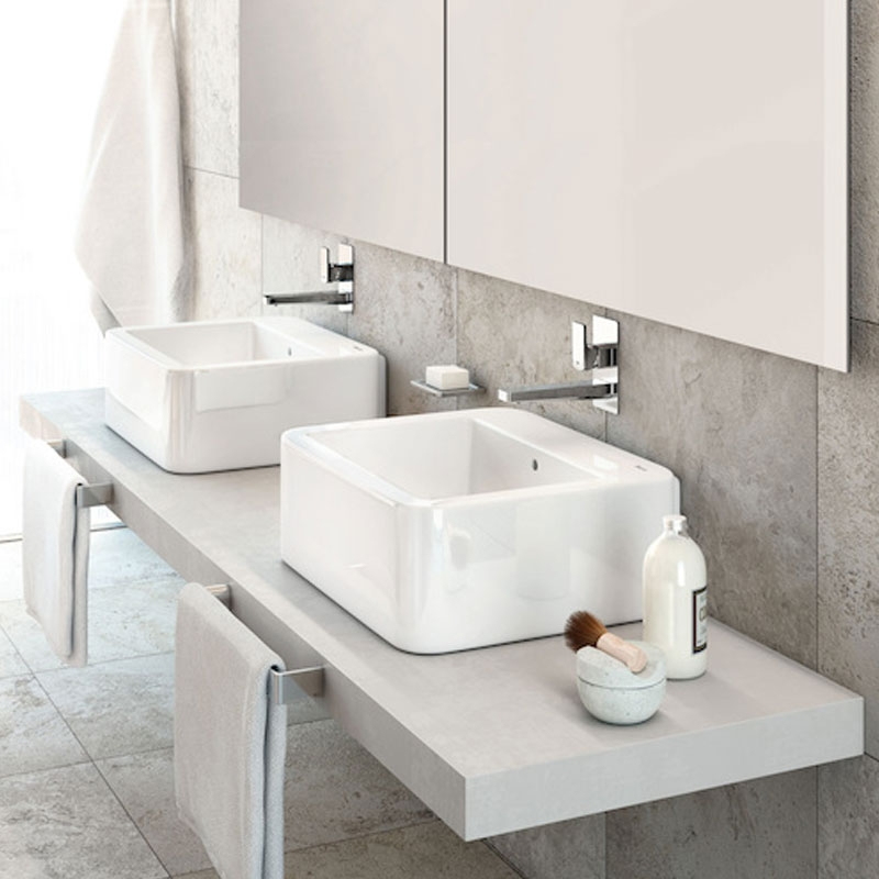 Roca Element Wall Hung Basin 600mm Wide - 0 Tap Hole