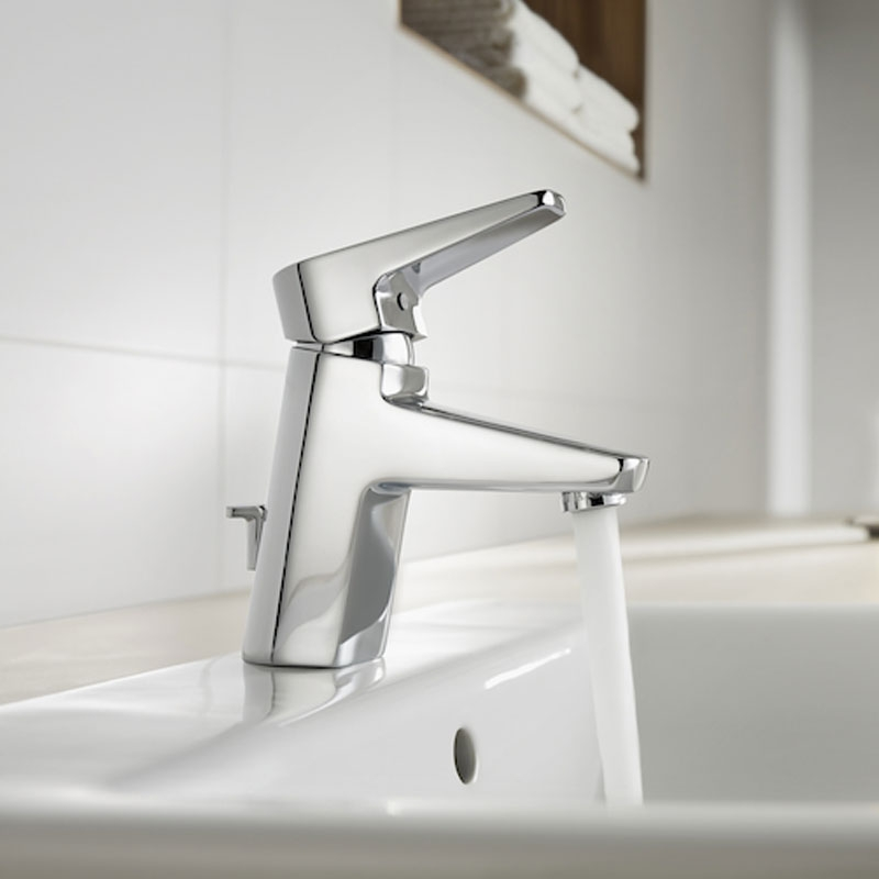 Roca Esmai Basin Mixer Tap with Pop-up Waste - Chrome