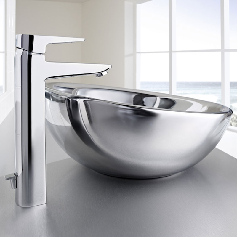 Roca Esmai Extended Basin Mixer Tap with Pop-up Waste - Chrome