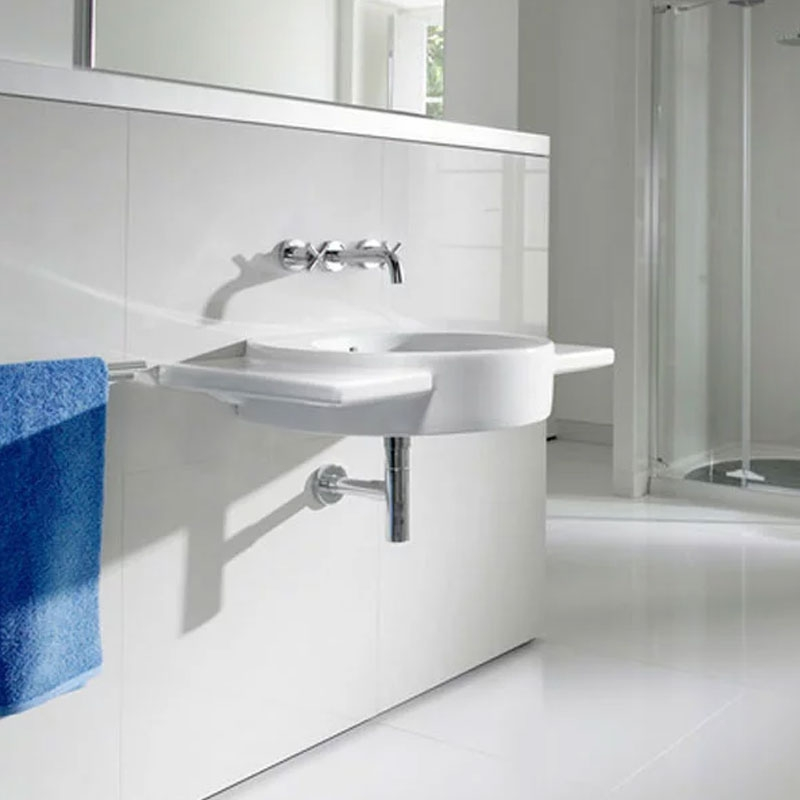Roca Happening Wall Hung Basin, 900mm Wide, 0 Tap Hole