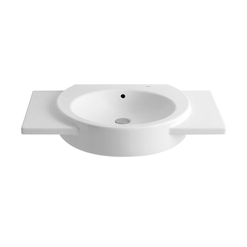 Roca Happening Basin and Full Pedestal, 800mm Wide, 0 Tap Hole