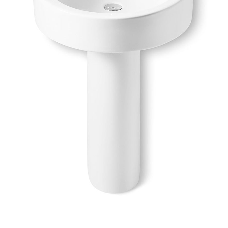 Roca Happening Basin and Full Pedestal, 800mm Wide, 0 Tap Hole-1