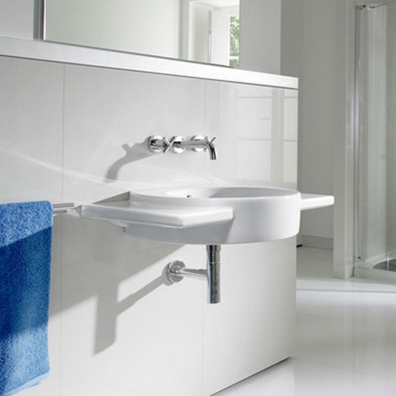 Roca Happening Wall Hung Basin 800mm Left Handed - 1 Tap hole