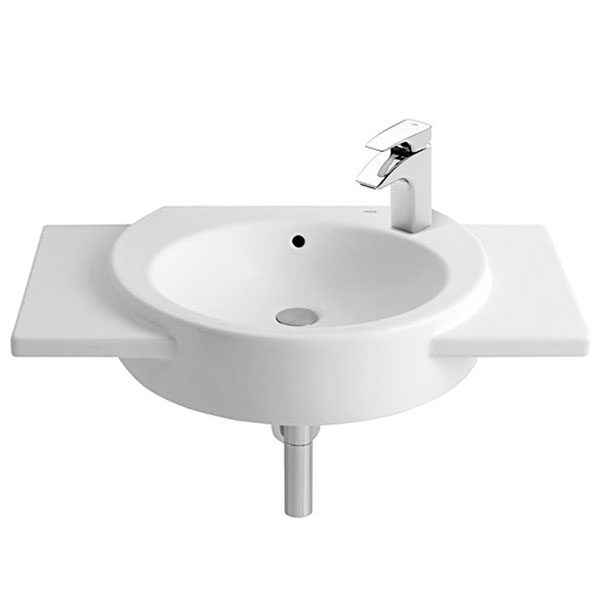 Roca Happening Wall Hung Basin 800mm Right Handed - 1 Tap hole