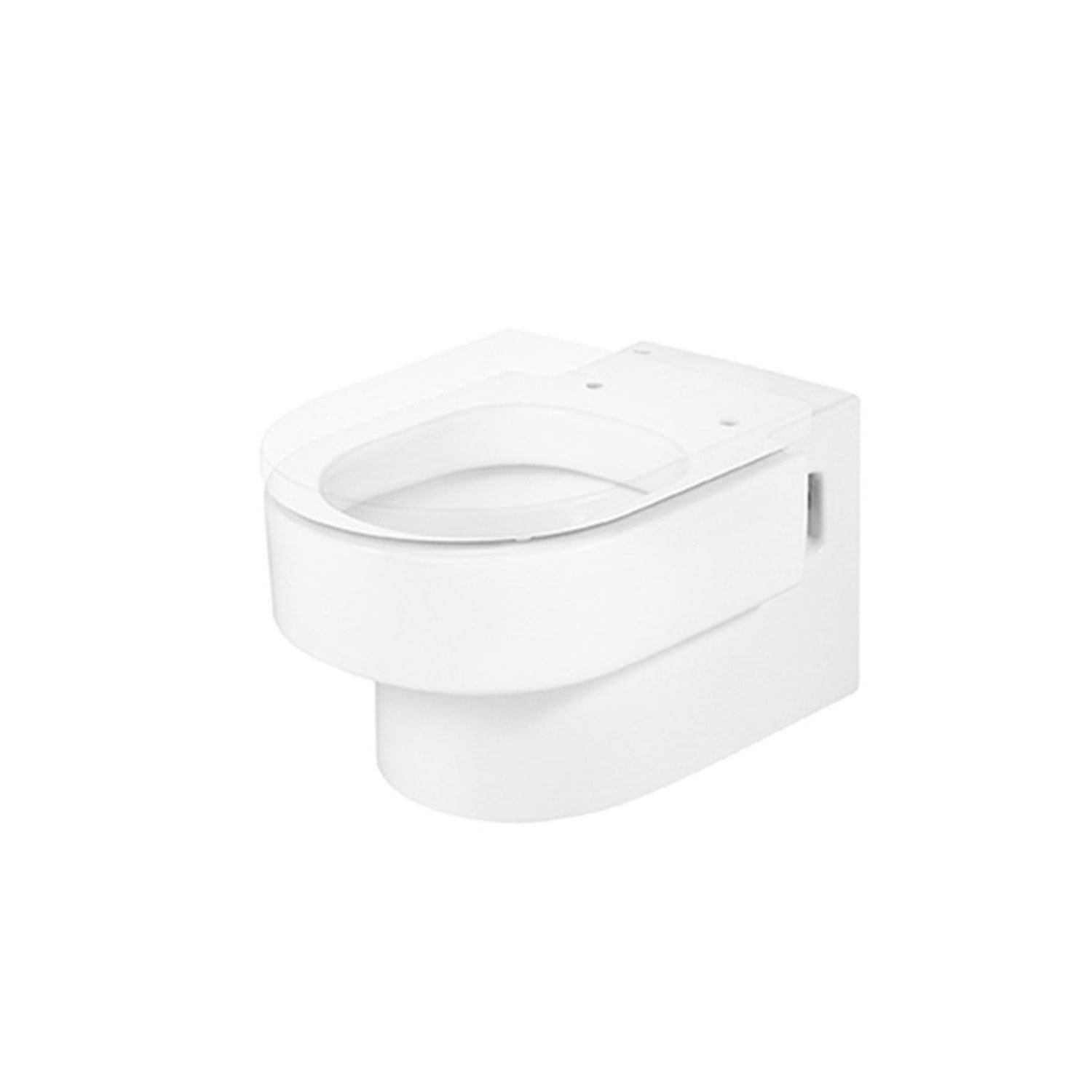Roca Happening Wall Hung Toilet, 560mm Projection, Soft Close Seat