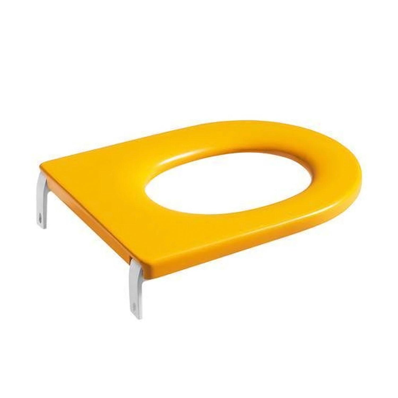 Roca Happening Floor-standing Toilet for Kids 415mm Projection - Yellow Seat