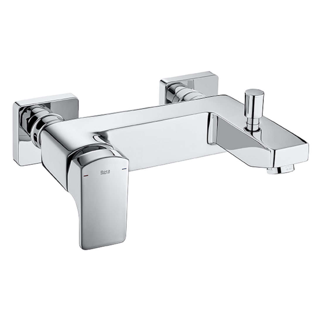 Roca L90 Bath Shower Mixer Tap with Shower Kit Wall Mounted - Chrome