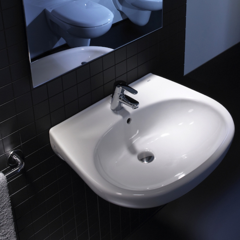 Roca Laura Wall Hung Cloakroom Basin with Pick-up Pack Box 450mm Wide - 1 Tap Hole
