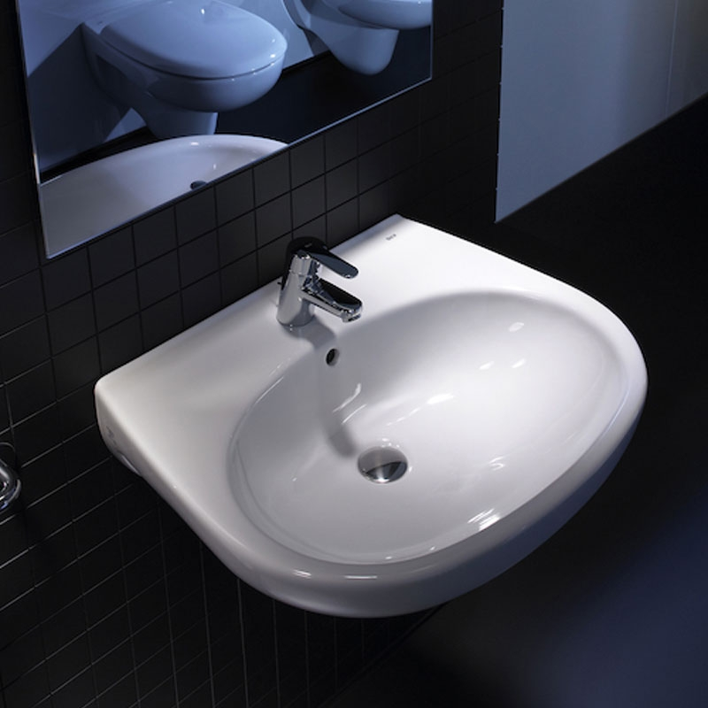 Roca Laura Wall Hung Basin, 350mm Wide, 1 Tap Hole