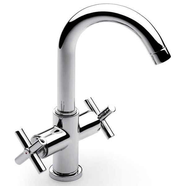 Roca Loft Basin Mixer Tap with Pop-up Waste - Chrome