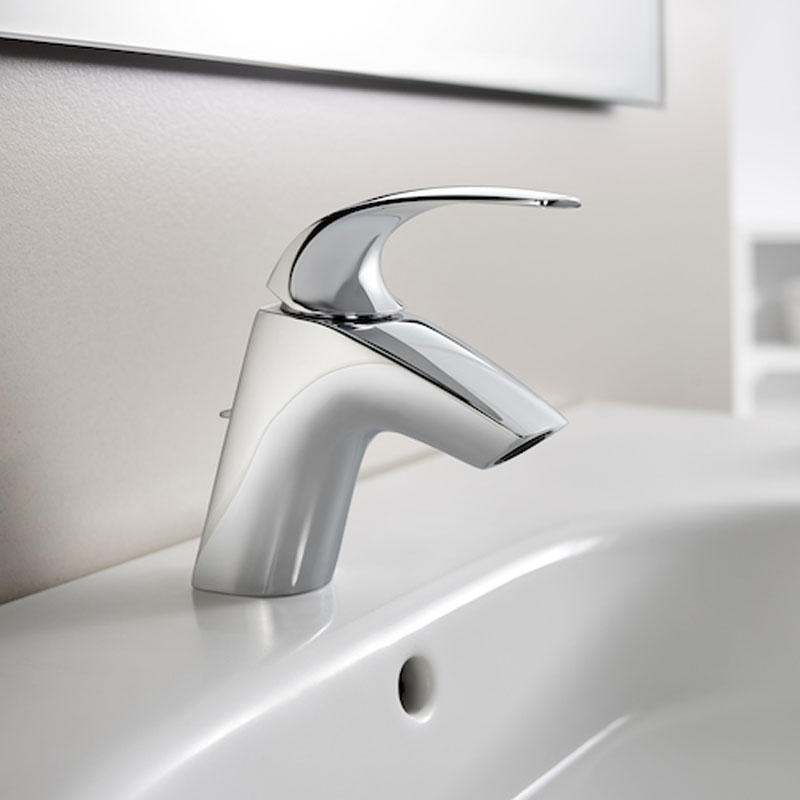 Roca M2-N Basin Mixer Tap with Retractable Chain - Chrome