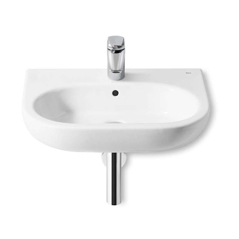 Roca Meridian-N Basin and Semi Pedestal, 600mm Wide, 1 Tap Hole