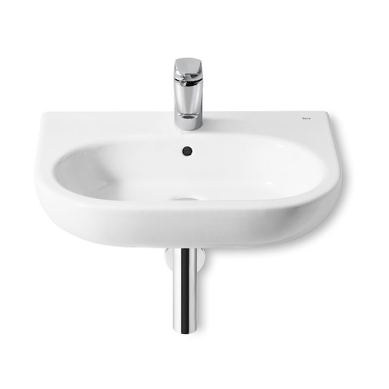 Roca Meridian-N Wall Hung Basin, 600mm Wide, 1 Tap Hole