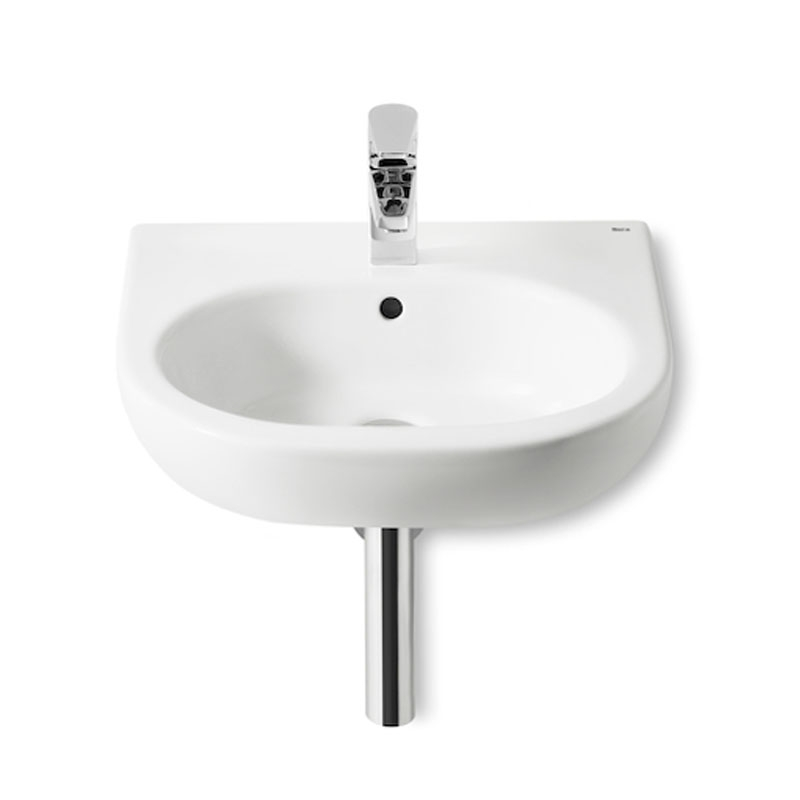Roca Meridian-N Wall Hung Basin, 500mm Wide, 1 Tap Hole