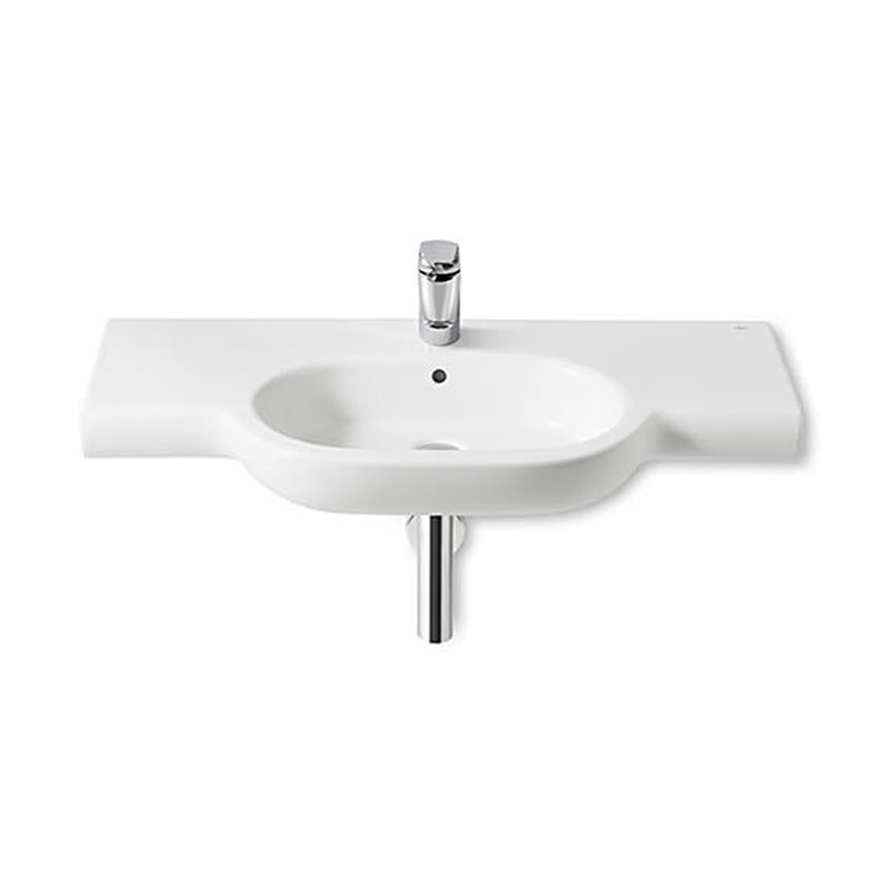 Roca Meridian-N Basin and Full Pedestal, 1000mm Wide, 1 Tap Hole-0