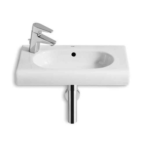 Roca Meridian-N Compact Basin and Semi Pedestal, 550mm Wide, 1 LH Tap Hole-2